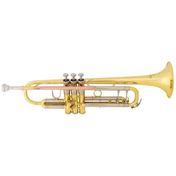 Produktbillede af trompet med hvid baggrund