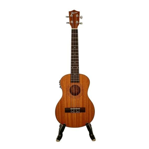 Produktbillede af en koncert/tenor-ukulele med hvid baggrund