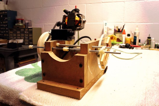 Winding machine created based off of an early Jason Lollar model