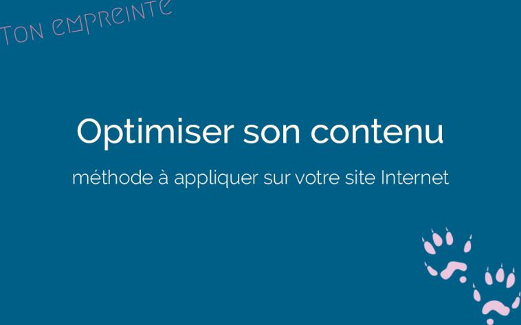 optimiser son contenu web - ton empreinte