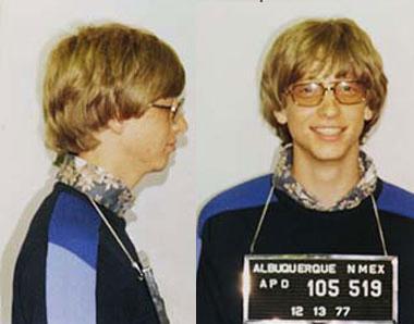 Una foto segnaletica di Bill Gates