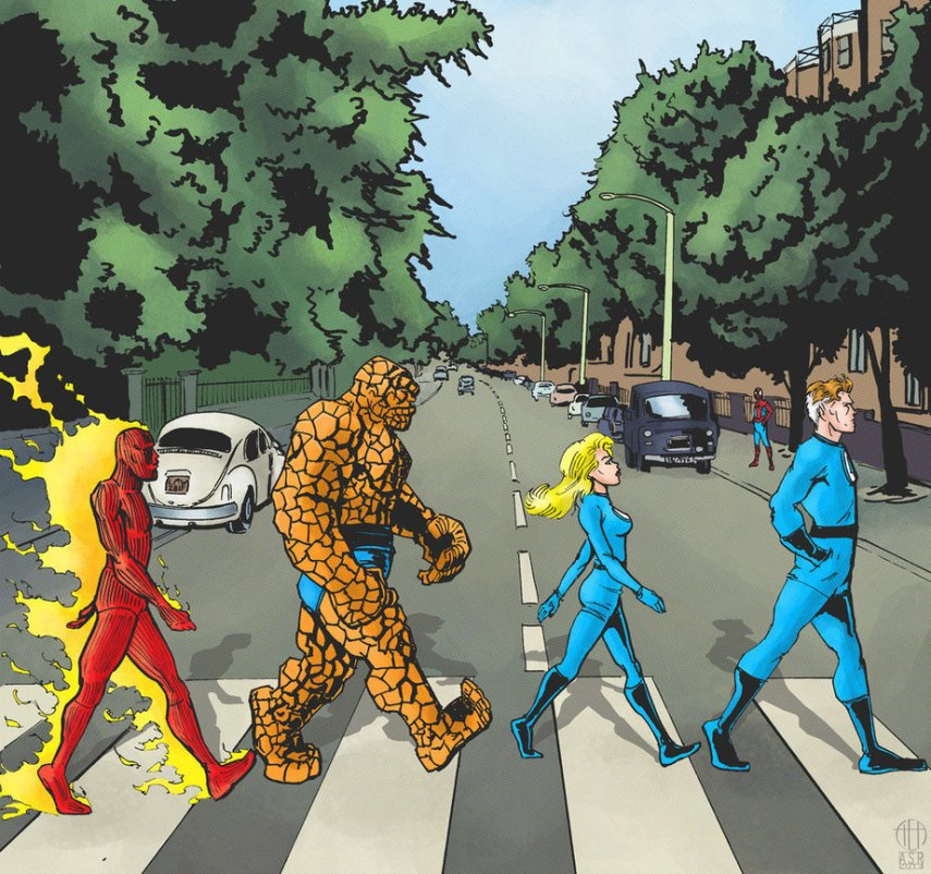 fantastic_four___abbey_road_by_theamat-d5wk5e5