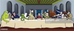 12082016: Ultima cena mostri dei cartoon