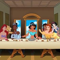 18112016: Ultima cena parodia principesse Disney