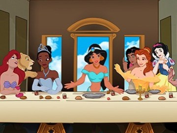 last supper disney princesses