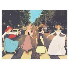 16112016: Abbey Road parody Principesse Disney