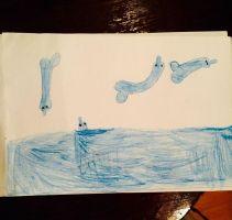 Bambini che disegnano peni senza volere_ Delfini