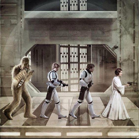 abbey Road parody star wars