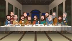 16022018: Ultima cena: last supper parody family guy