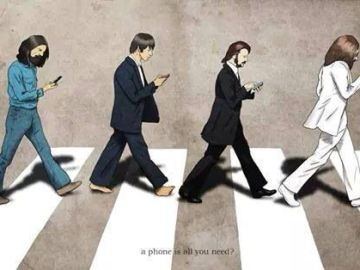 abbey road parody phone