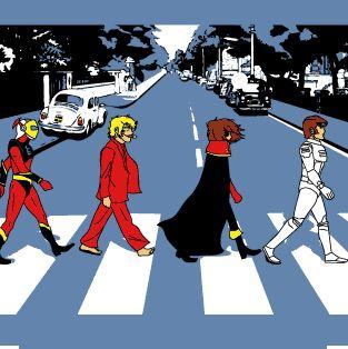 abbey road cartoon 80