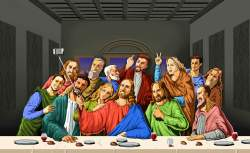 03082018: #lastsupper ultima cena last supper selfie #3agosto