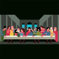 last supper minimal Nemury