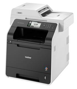 Der DCP-L8450CDW hat ein großes Display und scannt beidseitig