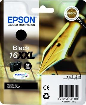 Die EPSON 16XXL Tintenpatrone druckt 1.000 Seiten