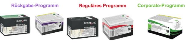 Lexmark-Tonerprogramm