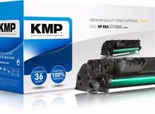 Der Ersatztoner für CF280A. Zu sehen ist die bewegliche Zahnrad-Kupplung. Diesen Artikel darf KMP nicht mehr verkaufen.