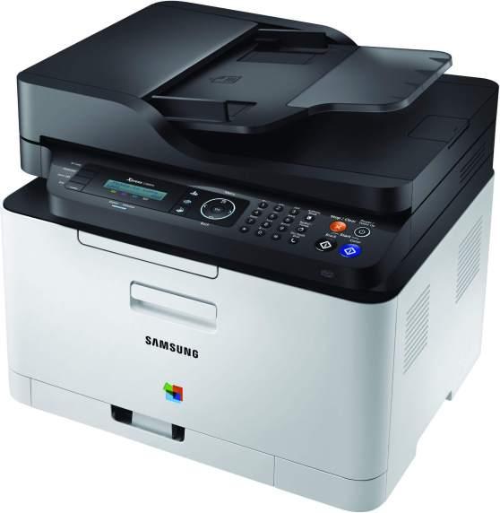 Der Samsung Xpress C480FN hat einen Dokumenteneinzug und kann auch faxen.