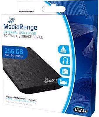 Die 256 GB SSD-Festplatte von MediaRange