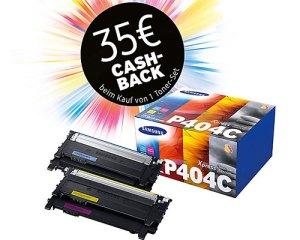Wer ein SAMSUNG 404 4er-Set kauft bekommt 35 € von SAMSUNG zurück.