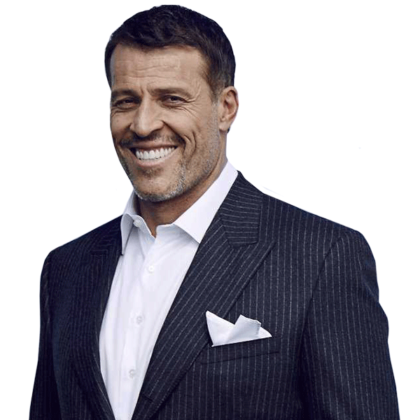 Tony Robbins in a black suit