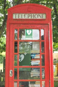 Red British telephone box