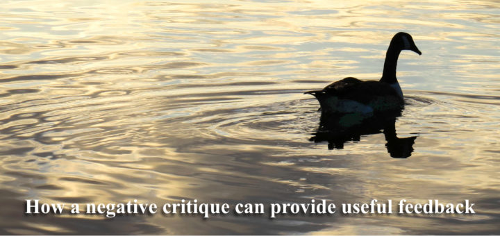 How a negative ritique can provide useful feedback