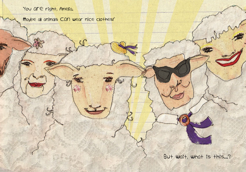 "A spread from my children's book ""A goat in sheep's clothing"""
