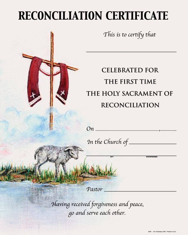 Reconciliation Certificates