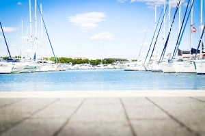 Dock with many boats