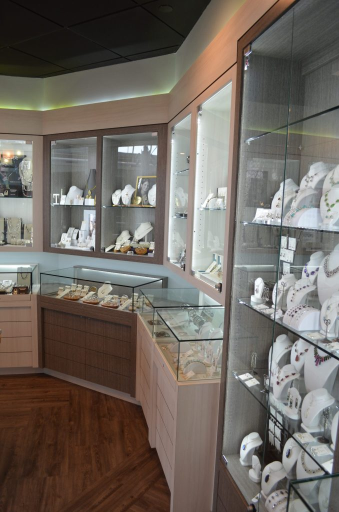 New custom display cases and LED lighting.