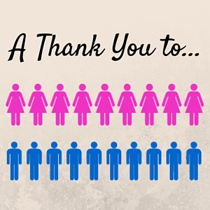 A thank you to…(A list of people to thank)
