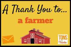 Thank a farmer with a thank-you note
