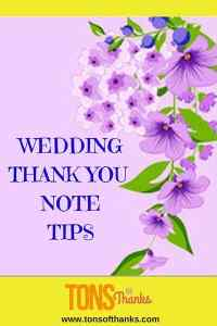 Wedding Thank You Note Tips