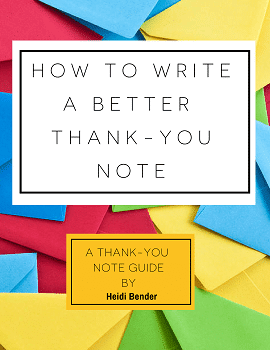 Cover of How to write a better thank-you note