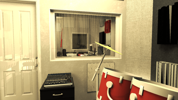 Aufnahmeraum nach dem Umzug