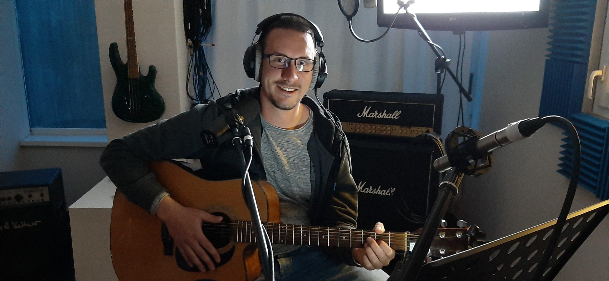 Steffen im Studio