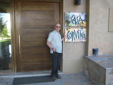 Tony at Masi's Casa Corvina in Tupungato