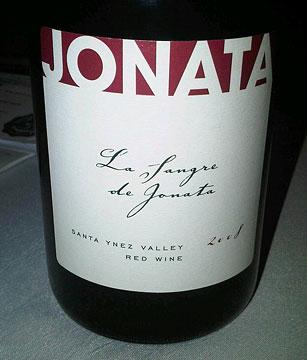 La Sangre de Jonata Syrah 2008
