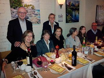 Seder Night, Adrienne Rosen standing