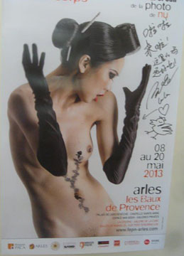 Poster for nude photography exhibition