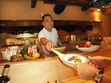 Jiro with robata dish of eels