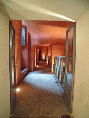 Entrance to Castiglioni's 13th-century cellar
