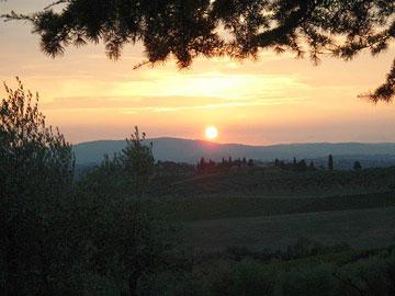 Sunset in Castellina in Chianti
