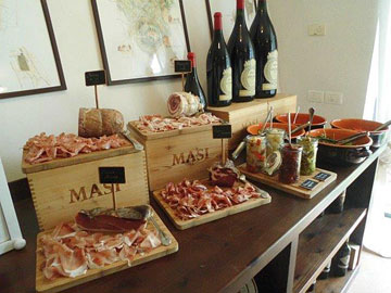 Lunch at the Masi house at the San Ciriaco vineyard