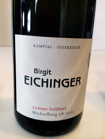 Birgit Eichinger Grüner Veltliner Wechelsberg 2013