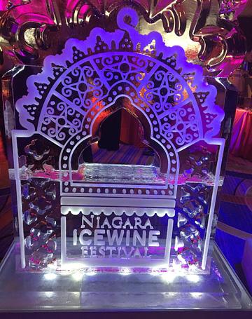 Niagara Icewine Festival ice sculpture