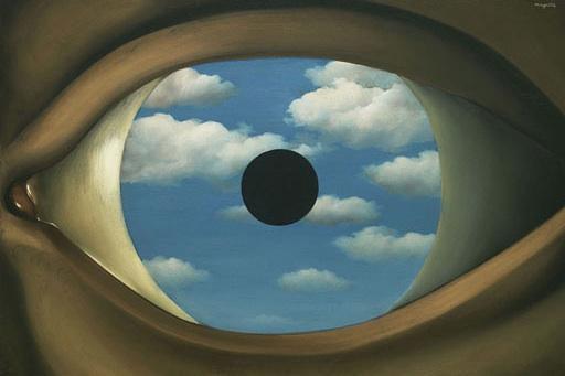 The False Mirror, Renée Magritte, 1898-1967