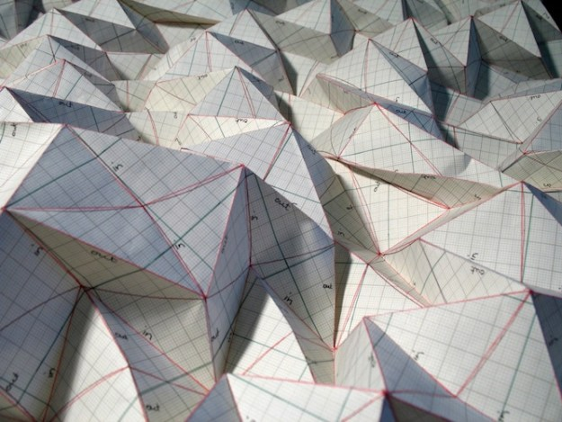 Graph Paperfold 2 - graph paper, 65 x 60 x 10cm, 2010 (detail)