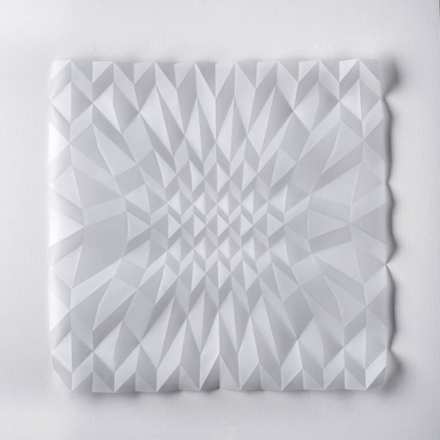 Experiment in Drawn Folded Form Number 2, 48 x 48 x 2cm, 2015